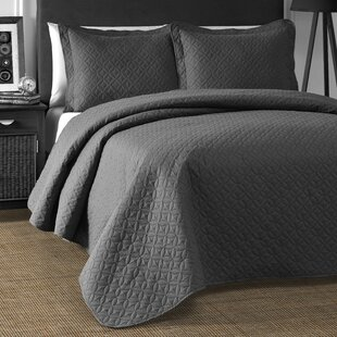 Lugenia 3 Piece Reversible Coverlet Set