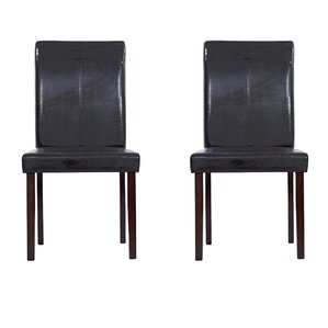 Genuine Leather Upholstered Dining Chairs..