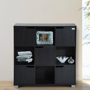 Red Barrel Studio Thiessen 9-Cubby Wooden Storage Organizer Cubes Unit Bookcase