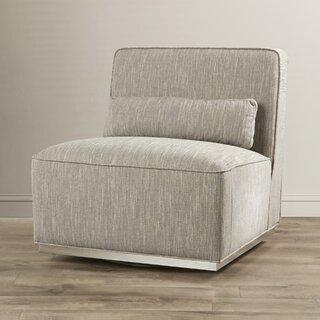 Aranda Swivel Slipper Chair by Everly Quinn SKU:AC867413 Price Compare