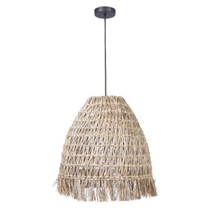Bungalow Rose Perla 1 -Light Bell Pendant