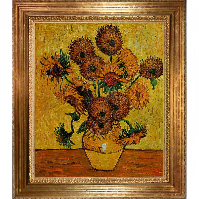 Wildon Home Vase With Fifteen Sunflowers By Vincent Van Gogh