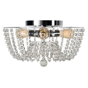 Compare prices Getty 3-Light Flush Mount By House of Hampton