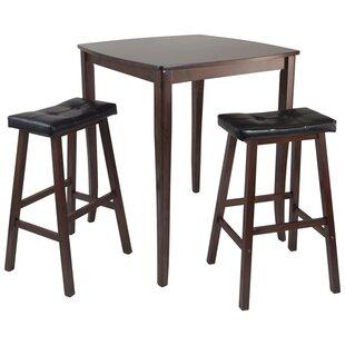 Merkley 3 Piece Counter Height Pub Table Set Red Barrel Studio