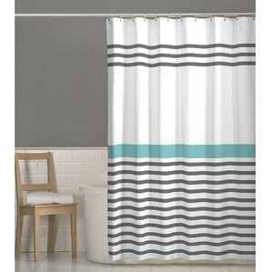 gray and white striped shower curtain. Prastio Simple Stripe Shower Curtain Modern Striped Curtains  AllModern