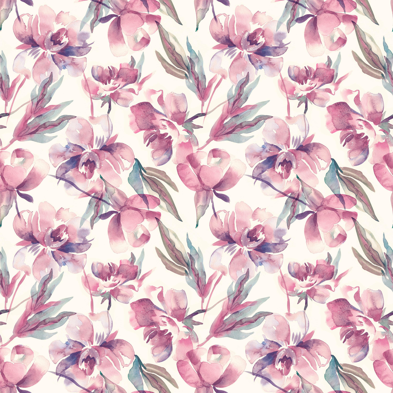 Bungalow Rose Parkridge Removable Blush Watercolor Peony 10 L X