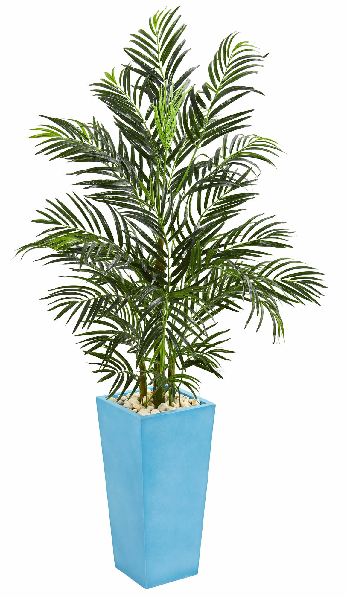 Bayou Breeze 60 Artificial Palm Tree In Planter Wayfair
