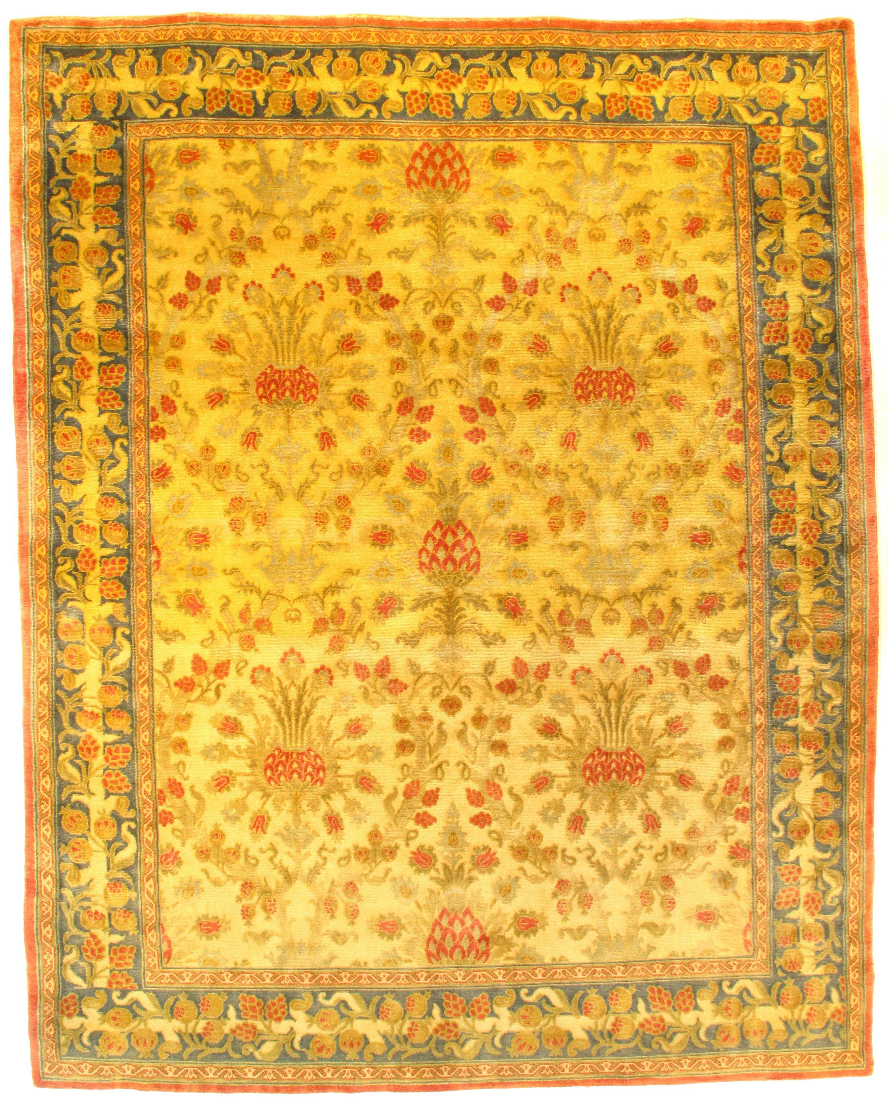 Pasargad Ny Fine Savonnerie Hand Knotted Wool Gold Area Rug Wayfair