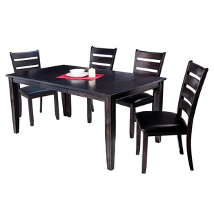 Red Barrel Studio Haan Traditional 5 Piece Dining Set with Ladder Back Chair