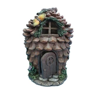 Fairy Garden Pinecone House with Butterfly by Hi-Line Gift Ltd.