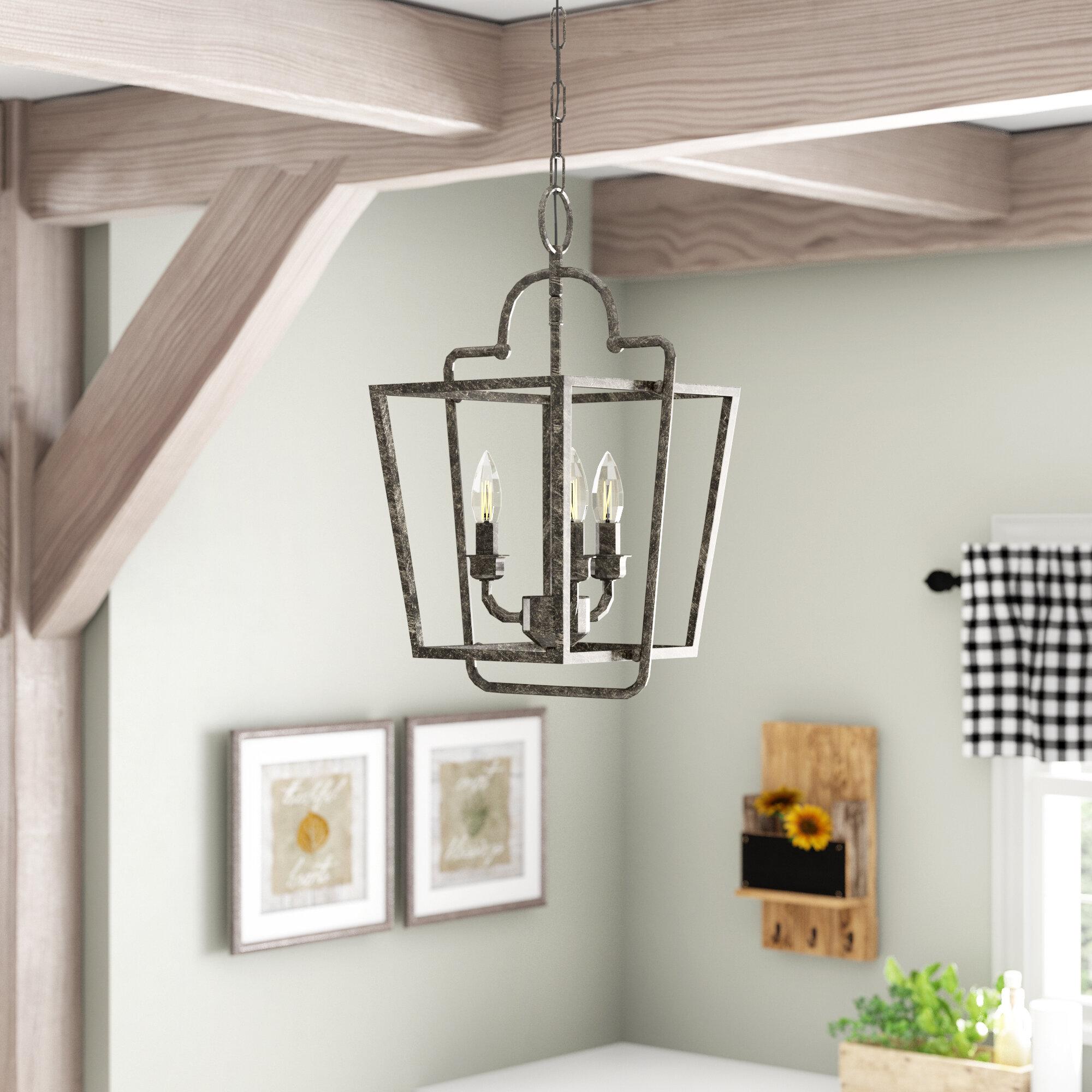 Gracie Oaks Seraphina 3 Light Lantern Geometric Pendant Reviews Wayfair