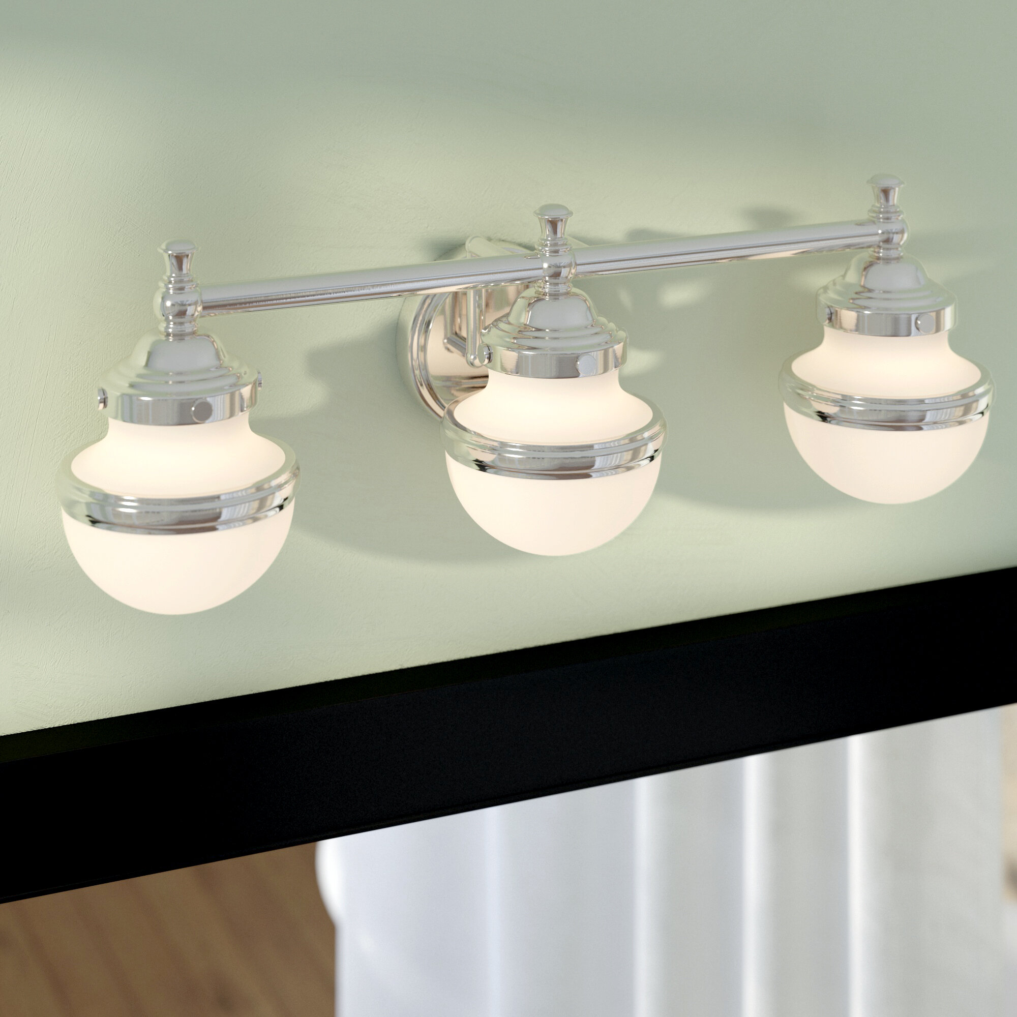 Andover Mills Myers 3-Light Vanity Light & Reviews | Wayfair