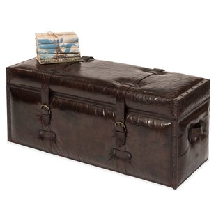Moorhouse Trunk Leather Storage Bench