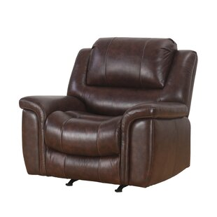 Blackmoor Leather Manual Recliner Darby Home Co