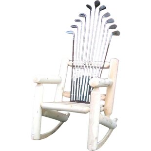 Ski Chair Golf Club Wood Rocking Adirondack Chair