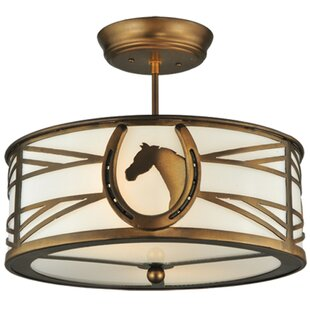 Horseshoe 2-Light Semi-Flush Mount by Meyda Tiffany