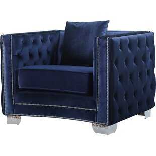 Navy Blue Velvet Chairs | Wayfair