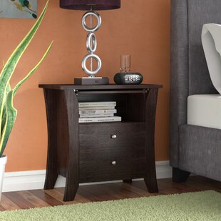 Dylan 2 Drawer Nightstand by Latitude Run
