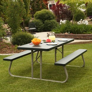 Folding Plastic Picnic Table (Set of 10)