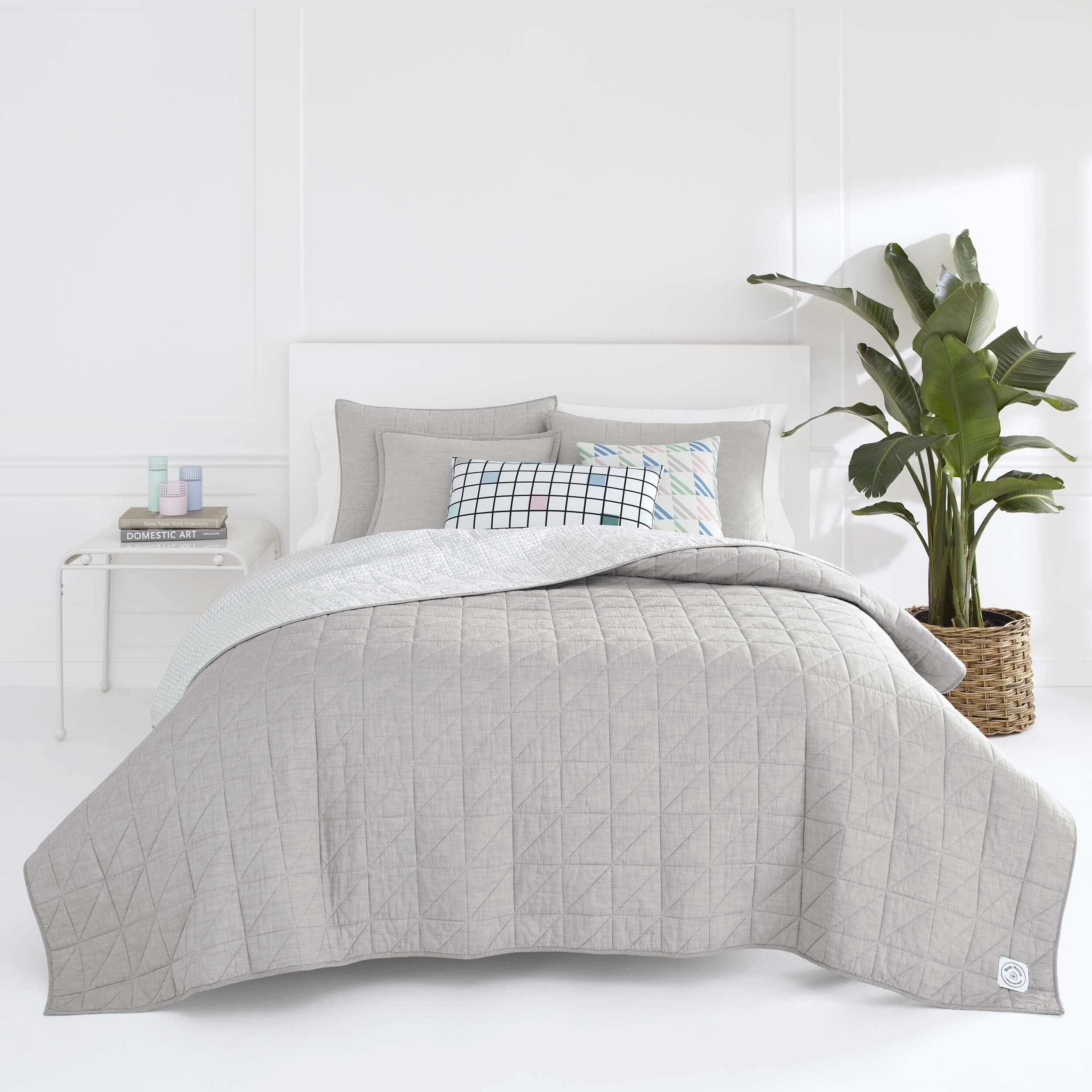 Bedding Sets Duvet Covers 100 Cotton Quilt Duvet Cover And 2 Pillowcase Bed Set Reversible Plain Dyed Home Furniture Diy Omnitel Com Na