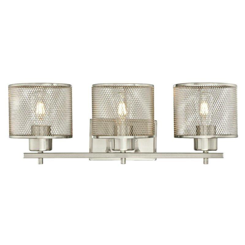 Beachcrest Home Gotha 3 Light Vanity Light Reviews: Mulligan Lighting