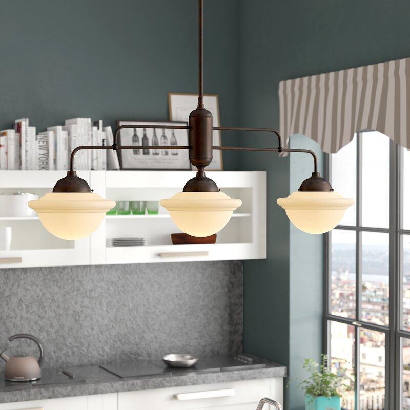 Trent Austin Design® Bruges 3 - Light Kitchen Island Schoolhouse Pendant &  Reviews   WayfairWayfair