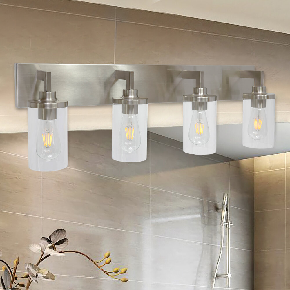 Brushed Nickel Bathroom Vanity Lighting Free Shipping Over 35 Wayfair