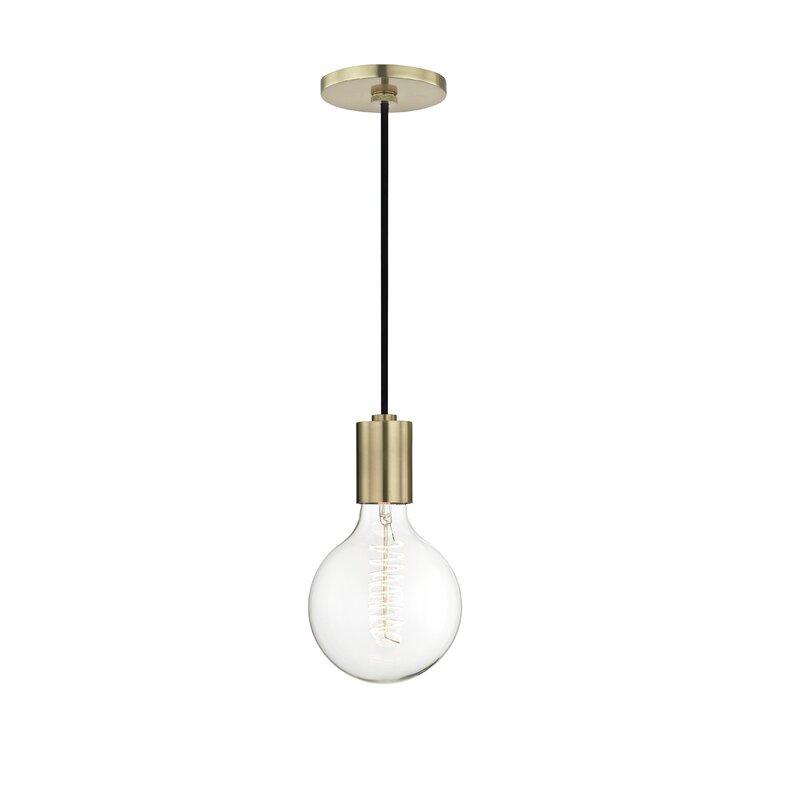 Henry 1 Light Single Globe Pendant Reviews Allmodern