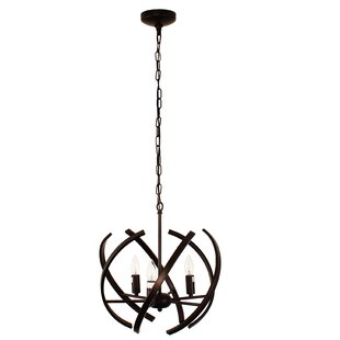 Dewberry Industrial Ceiling 3-Light Geometric Chandelier by Wrought Studio