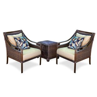 Atlantic Woven 3 Piece Sunbrella with Cushions by Peak Season Inc.
