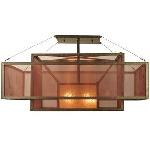 Meyda Tiffany Quadrato Umador 4-Light Semi Flush Mount