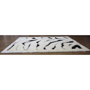 Hand-Tufted White/Black Area Rug ByRug Factory Plus
