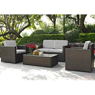 Belton 9 Piece Complete Patio Set With Cushions by Mercury Row 2019 Coupon
