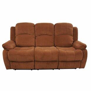 Madison Home USA Traditional Brush Microfiber Reclining Sofa
