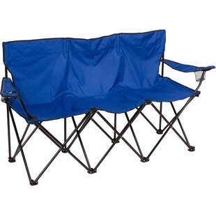 Freeport Park Raquel Triple Style Camping Bench with Steel Frame