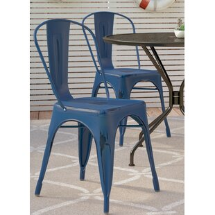 Breakwater Bay Dickens Stacking Patio Dining Chair (Set of 4)