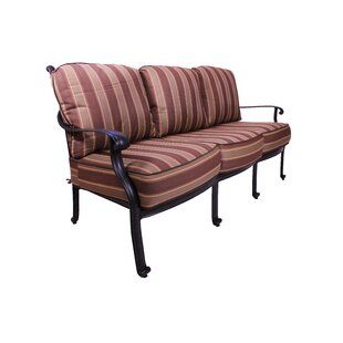 Islais Patio Sofa with Sunbrella Cushions by Darby Home Co