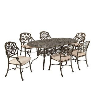One Allium Way Leora 7 Piece Dining Set with Cushions