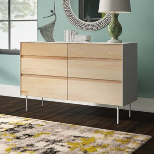 Clad 6 Drawer Double Dresser