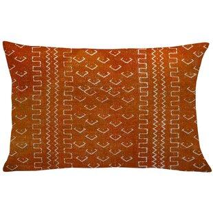 Waho Mud Cloth Linen Lumbar Pillow