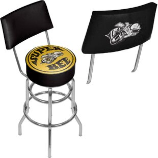 Dodge Super Bee 31 Swivel Bar Stool by Trademark Global 2019 Coupon