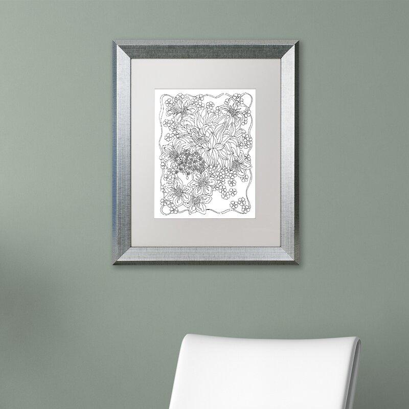 Trademark Art Beauty Framed Graphic Art On Canvas Wayfair