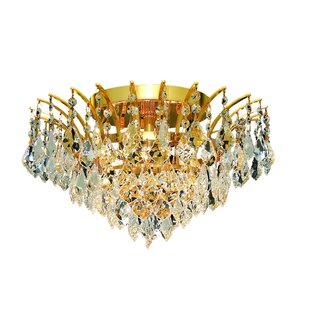 Everly Quinn Phyllida 6-Light Semi Flush Mount
