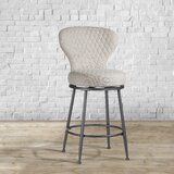 Odaniel Upholstered 26 Swivel Bar Stool by Williston Forge