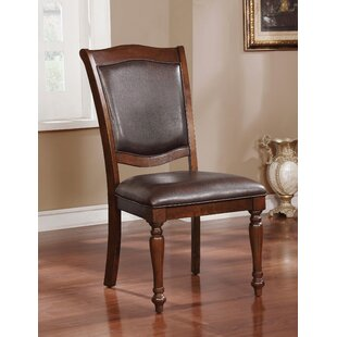 Hirschman Traditional Upholstered Dining Chair (Set of 2)