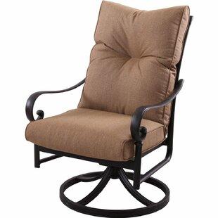 K&B Patio Santa Anita Swivel Patio Dining Chair with Cushion
