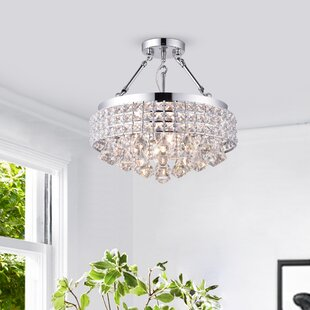 Nelia 3-Light Semi Flush Mount by Everly Quinn