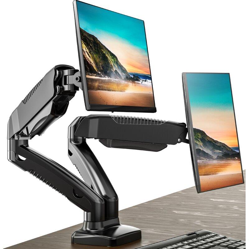 Fitueyes Height Adjustable Universal 2 Screen Desk Mount Wayfair