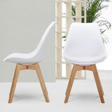 Pei Upholstered Side Chair in White (Set of 4) by Wrought Studio™