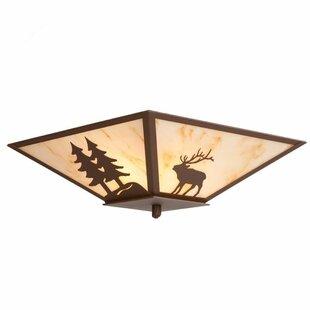Steel Partners Elk 2-Light Flush Mount